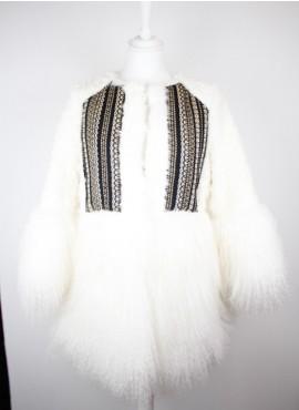 Abrigo pelo blanco ETIEM