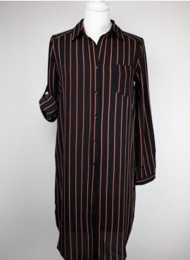 Vestido camisero rayas DAPHNEA
