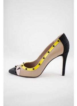 Zapato amarillo negro VOLVORETA