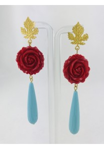 PENDIENTES RED ROSE SOULMATE