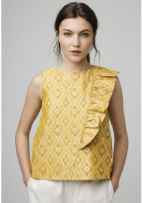 TOP AMARILLO JACQUARD